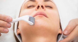 women undertaking skin needling | derma roller